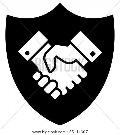 Secure partnership icon