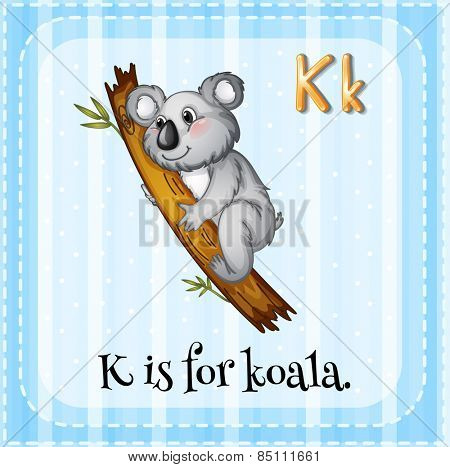 Alphabet K is for koala