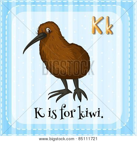 Alphabet K is for kiwi