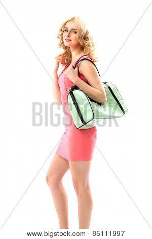 Glamorous woman on shopping trip