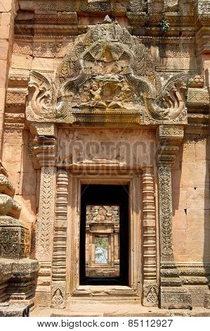 March 05, 2015: Doorway in Principal Tower in Phanom Rung Historical Park, Thailand