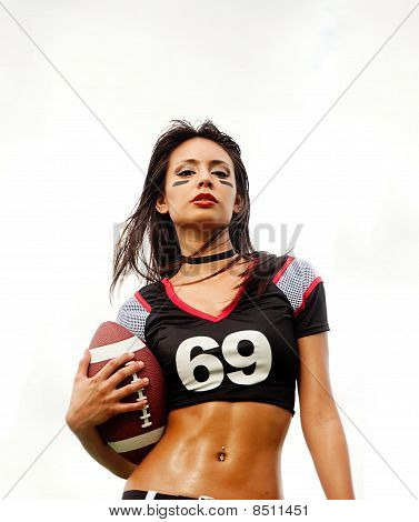 Sexy American Football woman