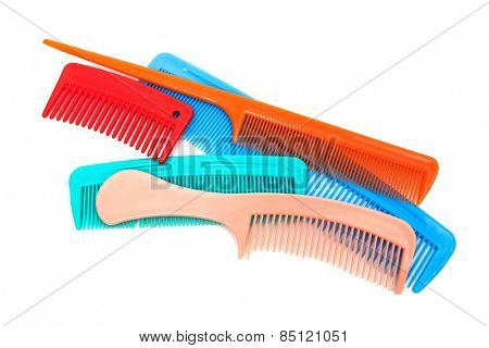 Set of modern comb on a white background