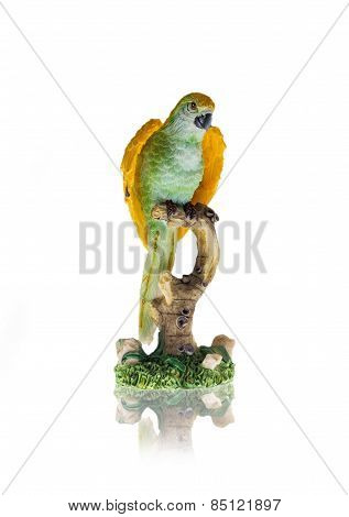 Nice Parrot Isolated On White