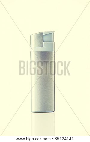 One and seperated silver lighter.
