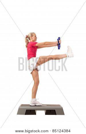 Sport Series: Step Aerobics With Dumbbells