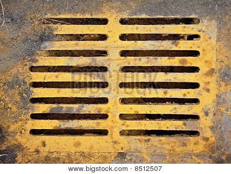 Brightly Colored Sewer Grate