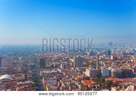 Mexico capital city from Torre Latinoamericana