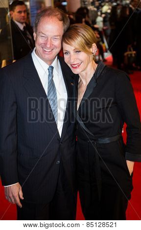 BERLIN, GERMANY - FEBRUARY 11: John B. Emerson and Kimberly Emerson. 'Fifty Shades of Grey' premiere. 65th Berlinale International Film Festival. Zoo Palast on February 11, 2015
