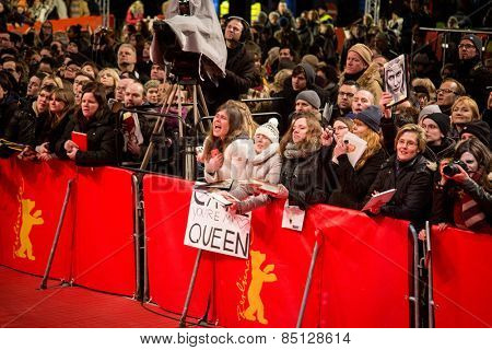 BERLIN, GERMANY - FEBRUARY 13: 'Cinderella' premiere during the 65th Berlinale Film Festival at Berlinale Palace on February 13, 2015 in Berlin, Germany.