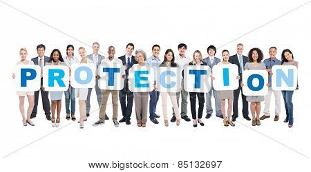 Protection Business People Team Teamwork Success Strategy Concept