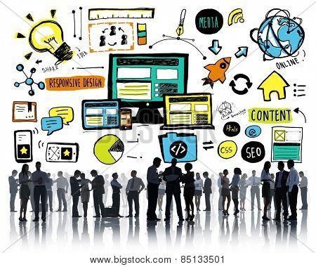 Business People Responsive Design Idea Discussion Concept