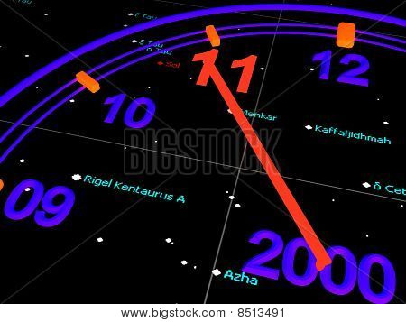 Blue New Years Space Speedometer