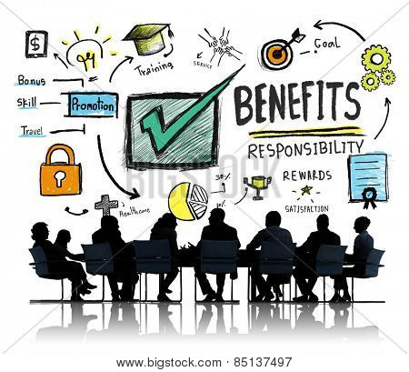 Benefits Gain Profit Earning Income Business Meeting Concept