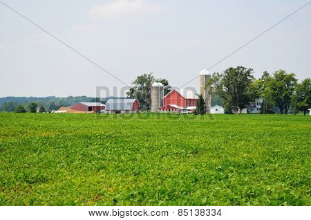 Barn and farmland