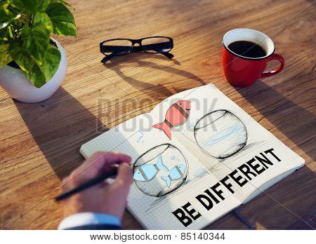 Business Be Different Motivate Idea Planning Concept