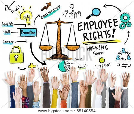 Employee Rights Employment Equality Job Hands Volunteer Concept