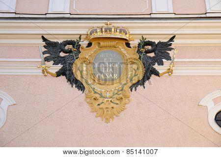 BAD ISCHL, AUSTRIA - DECEMBER 14: The parish church of St. Nicholas in Bad Ischl, Austria on December 14, 2014.