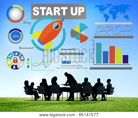 Business Corporate People Start up Meeting Teamwork Concept