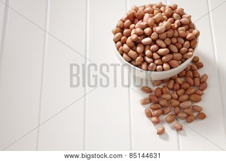 ground nut in a white bowl