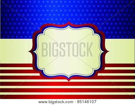 USA patriotic frame / background