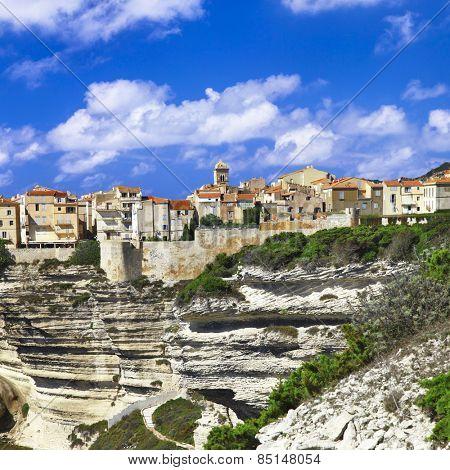 Bonifacio - unique town on rocks in Corsica