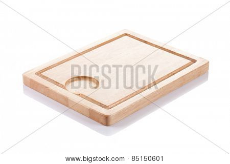 Cutting board on white background