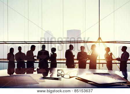 Group of Business People Working in the Office Concept