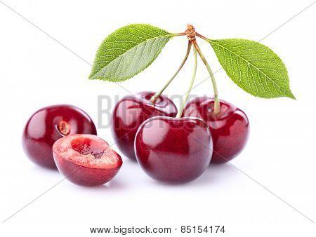 Fresh sweet cherry