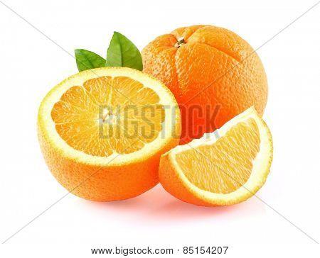 Orange fruit in closeup