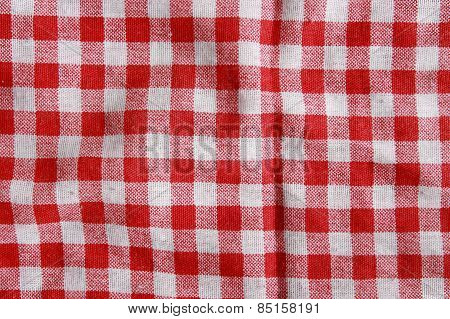 Red fabric texture.