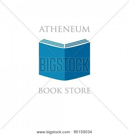 Book store or library logo sign
