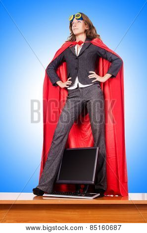 Businesswoman in superwoman concept