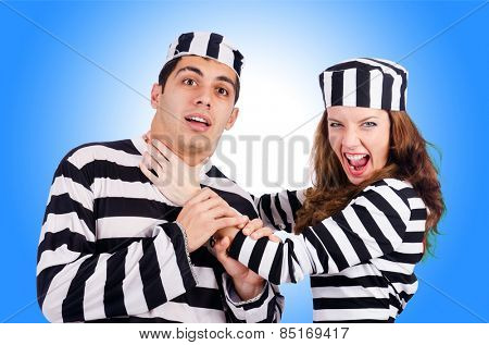 Pair of prisoners isolated