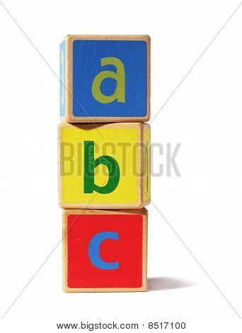 Wooden Building Blocks - Abc