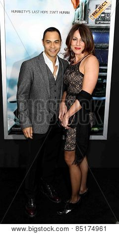 NEW YORK-MAR 4: Actor Jose Pablo Cantillo (L) and Kristi Cantillo attend the premiere of