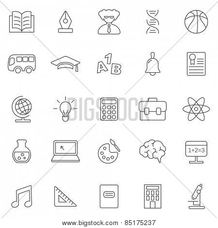 Education line icons set.Vector