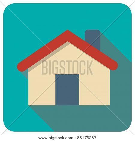house icon, vector illustration. Flat design style