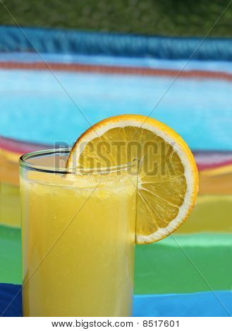 Summer Drink In Swimming Pool