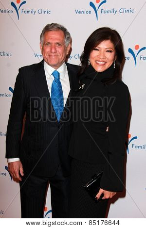 LOS ANGELES - MAR 9:  Les Moonves, Julie Chen at the 2015 Silver Circle Gala at the Beverly Wilshire Hotel on March 9, 2015 in Beverly Hills, CA