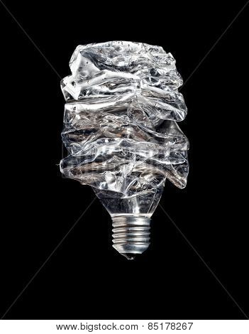 abstract bulb make from recycled plastic bottle