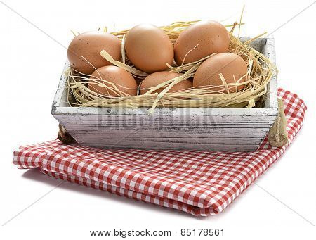 Organic Eggs in Box
