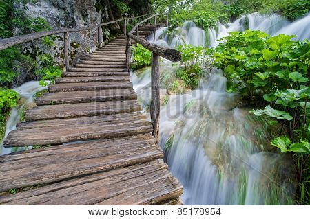Waterfall at Plitvice Lakes Nationa Park, Croatia