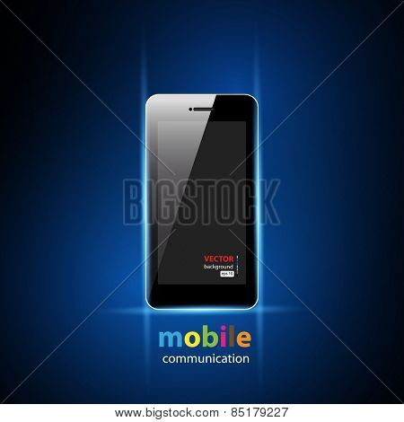 mobile phone with blank screen, easy all editable