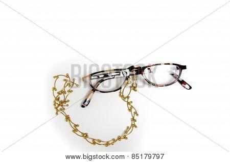 Half Eye Reading Glasses On Holder