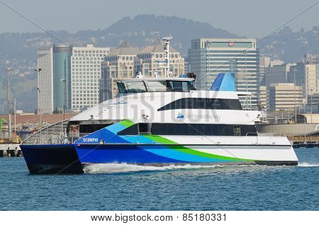 Alameda, CA - March 9, 2015: Oakland  San Francisco Bay Ferry