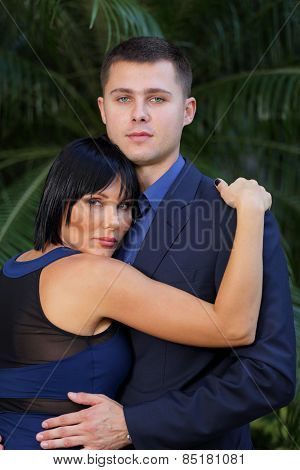 Young couple in formal attire