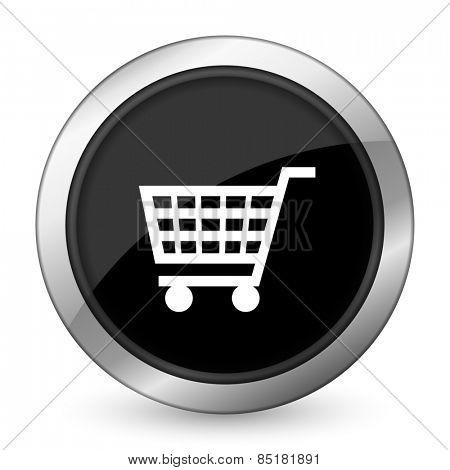 cart black icon shop sign