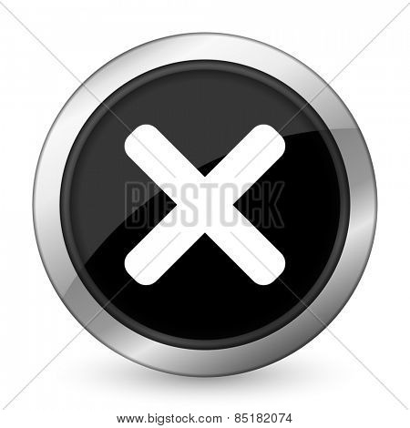 cancel black icon x sign