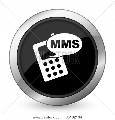mms black icon phone sign